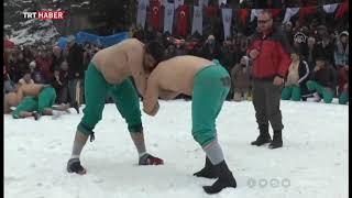 24'üncü Veliköy Uluslararası Kar Üstü Karakucak Güreşleri Büyük İlgi Çekti (2019)