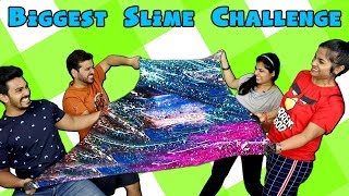 Biggest Slime Challenge | Big Slime Competition | Hungry Birds Slime Challenge