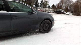 Vw Golf Tdi Wagon With General Altimax Arctic Snow Tires Slope Climb