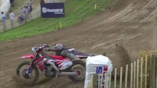Gautier Paulin Crash  Qualifying Race MXGP of France 2016 - motocross