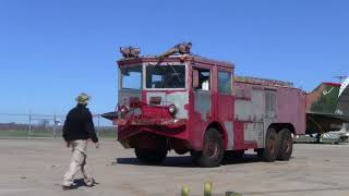 I drove a 60 year old Air Force Crash Truck today