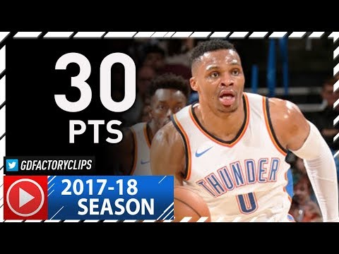 Russell Westbrook Full Highlights vs Hornets (2017.12.11) - 30 Pts, 7 Ast