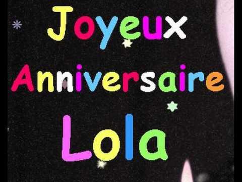 Anniversaire Lola Youtube
