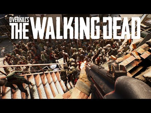 """Overkill's THE WALKING DEAD Gameplay - """"Defend the Camp!"""" (4-player Co-op Zombie Survival)"""