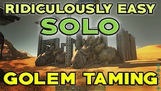 Ridiculously easy solo golem taming