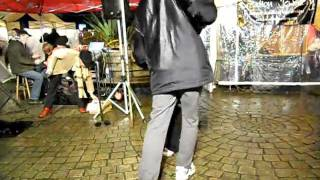 Dancing In The Totnes Market Square Late Night Christmas Shopping