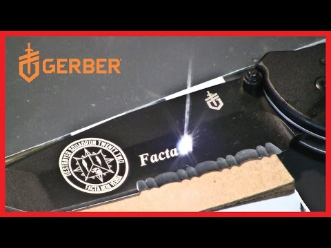 Gerber Answer Knife - Laser engraving for the US Navy Destroyer Squadron 22