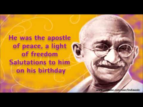 Happy Gandhi Jayanti 2016- SMS, wishes, Quotes, Greetings, images, Whatsapp video Message