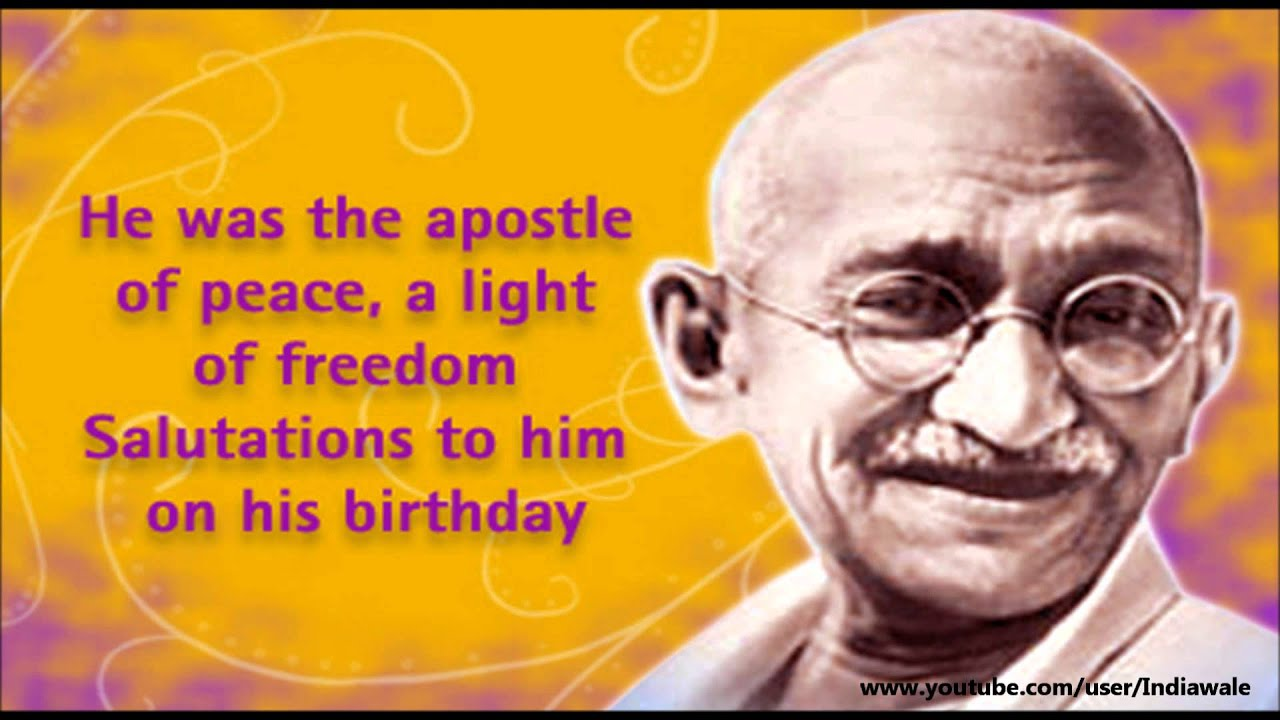 mahatma gandhi apostle of peace