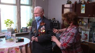 Юбилейную годовщину Победы ветераны встретили с самыми близкими людьми