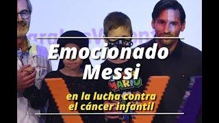 Un emocionado Messi abandera la lucha contra el cáncer infantil