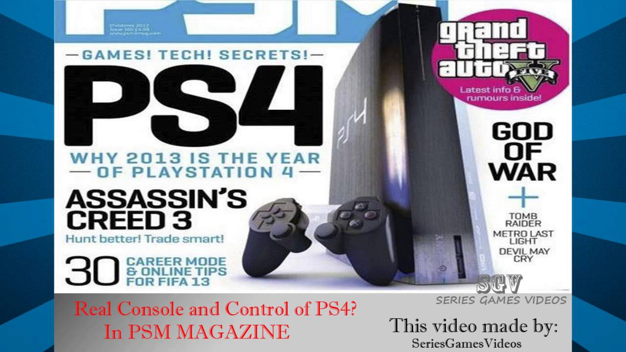 Console Magazine Ps4 Console And Controle Cover In Psm Magazine
