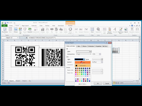How To Create QR, Data Matrix, EAN, POSTNET And PDF417 Bar Codes In Excel 2010 With StrokeScribe