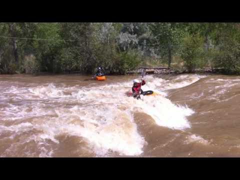 Kayaking in Golden Play Park, Golden, Colorado