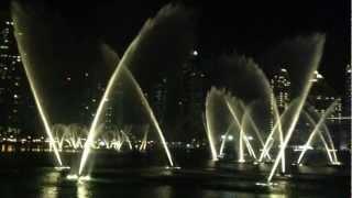 Dubai Fountains show, October 3rd 2012