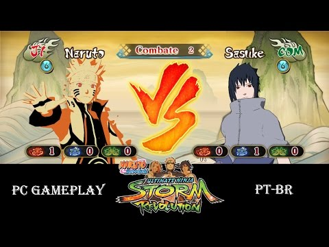 NARUTO SHIPPUDEN Ultimate Ninja STORM Revolution Uzumaki Naruto vs Uchiha Sasuke - PC Gameplay