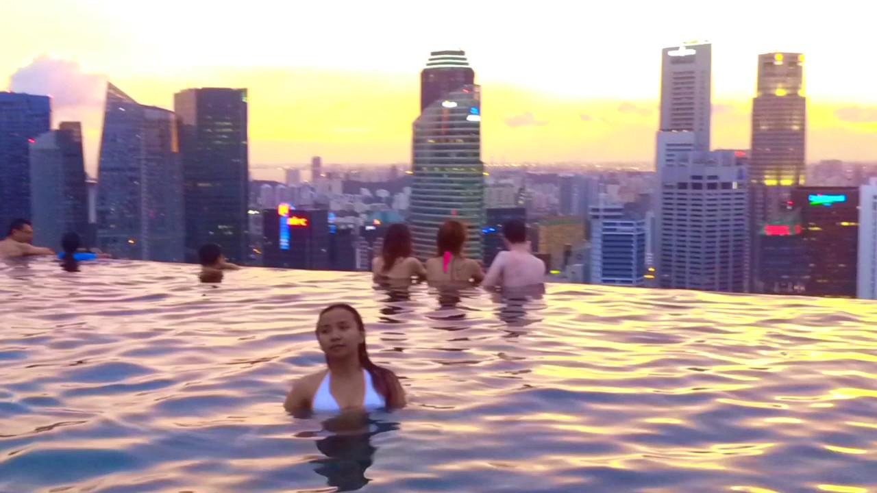piscina singapur piscina infinita en el marina bay sands youtube