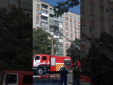 Пожар в Бахмуте по улице Леваневского