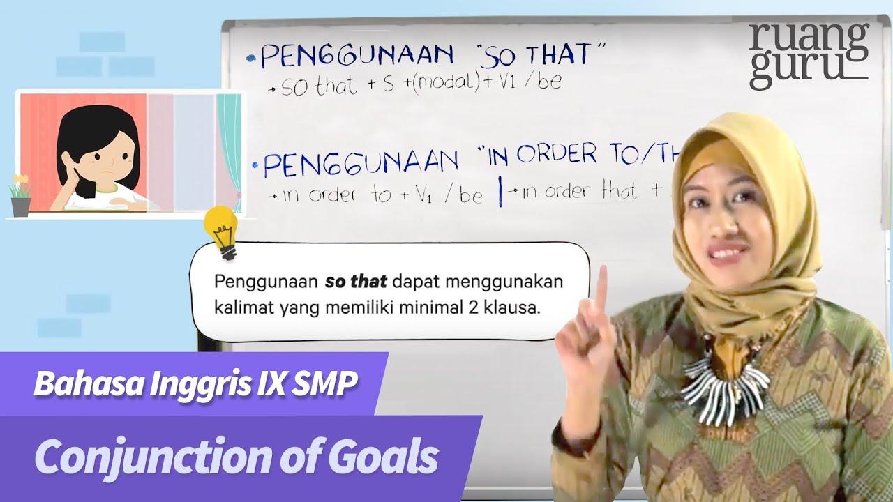 Ruangbelajar Bahasa Inggris Ix Smp Conjunction Of Goals Youtube