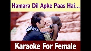 Gambar cover Hamara Dil Aapke Paas Hai - Karaoke For Female