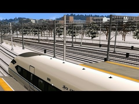 Train Sim 2014: An epic Chinese High Speed Train... oh..and saving a commuter train too ;)
