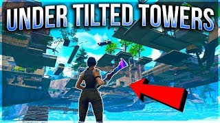UNDER THE MAP GLITCH Fortnite TILTED TOWERS! TILTED TOWERS UNDERGROUND GLITCH! (FORTNITE GLITCHES!)
