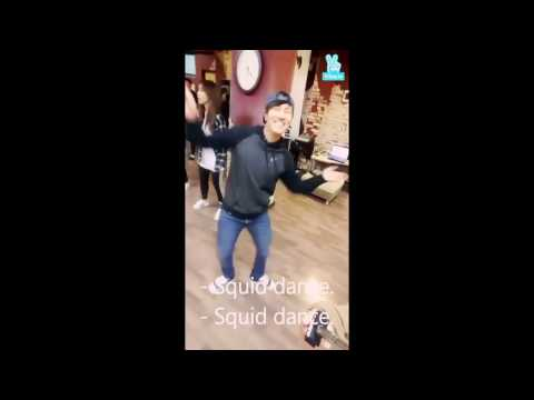 [Eng Sub] Dongwan's Squid Dances + Andy's Crazy Squid Ver. (SHINHWA)
