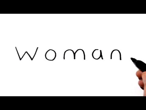 How To Draw A Woman Using The Word Woman