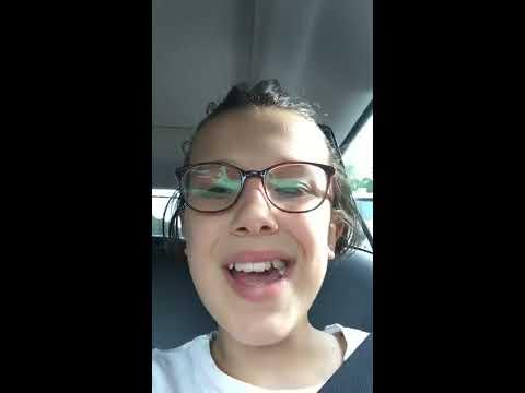 Millie Bobby Brown - Instagram Livestream 08-08-2017
