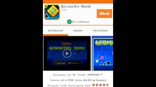 Como descargar geometry dash  gratis (aptoide)