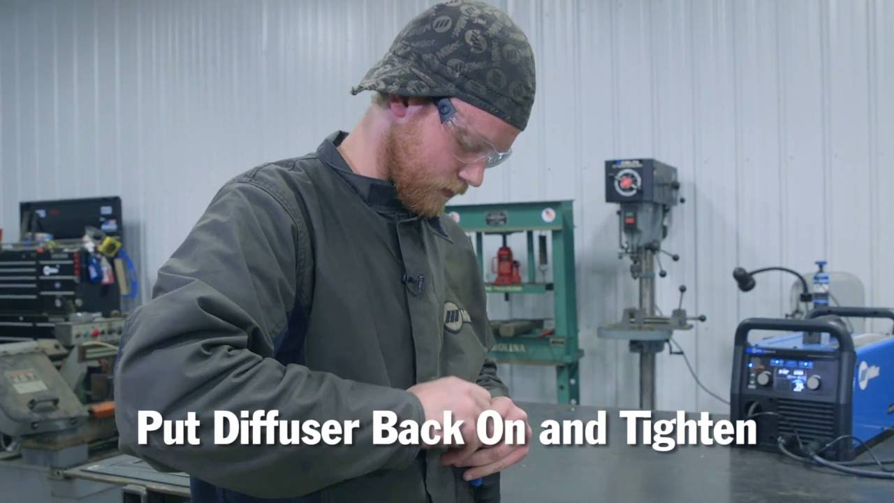 How To Replace A Mig Gun Liner Youtube Well As Snap On Welder Parts Diagram Along With For Miller Welders