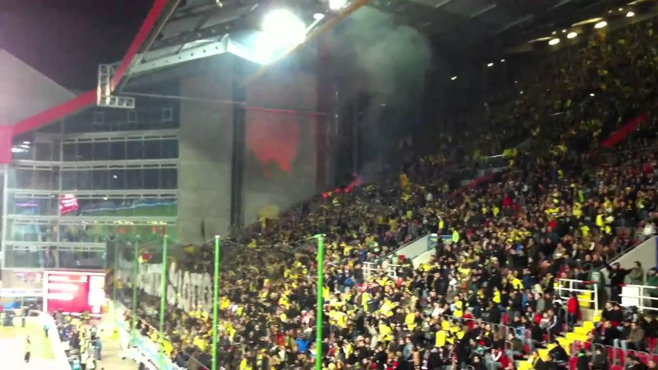 FCK - BVB Gästestimmung kurz nach dem 0:1