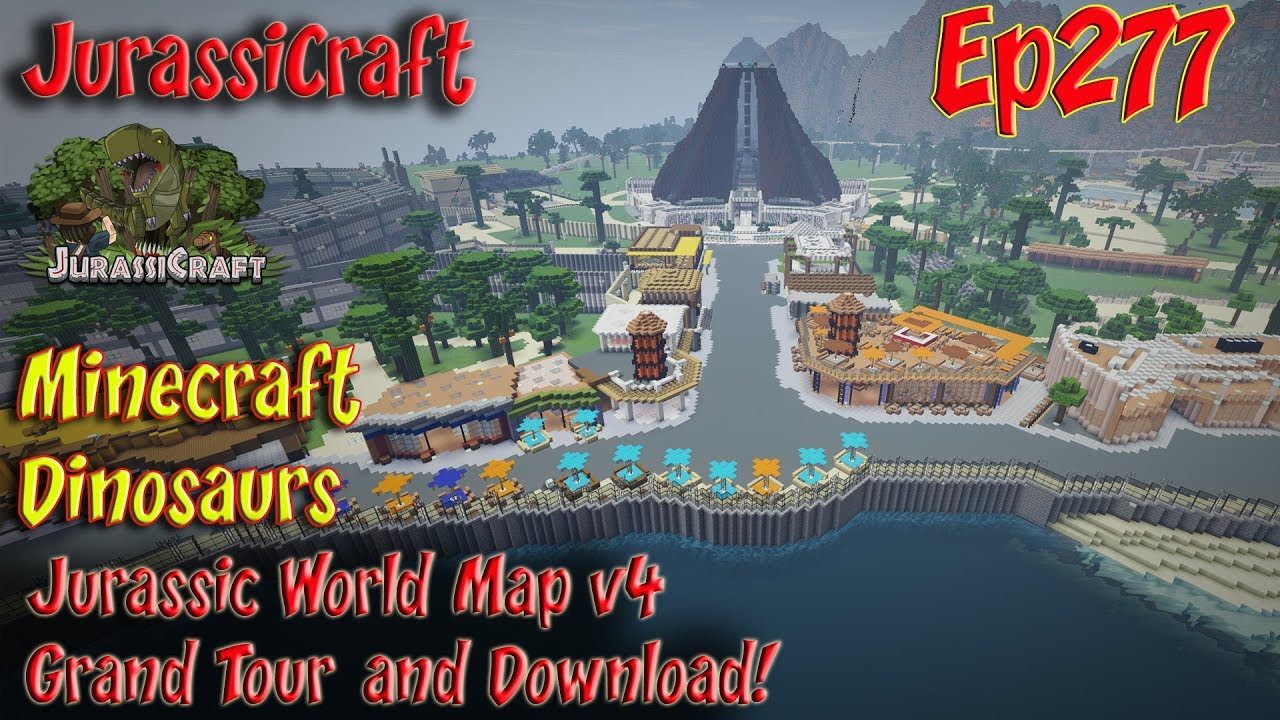 Jurassicraft Ep277 Jurassic World Map V4 Grand Tour And Download