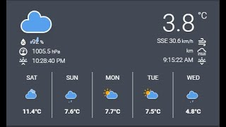 Home Assistant - Animated Weather Card