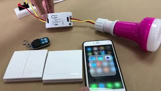 How to Install a Smart Home Light Switch - WiFi smart switch with RF 433Mhz remote control function
