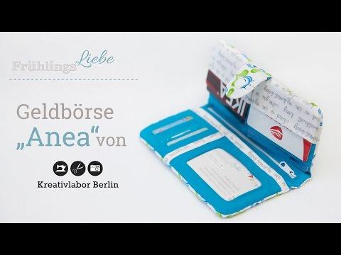"""Nähanleitung: Geldbörse Anea von """"Kreativlabor Berlin"""""""
