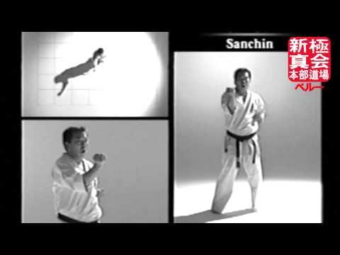 Shinkyokushin Kata - Sanchin + Zoom + Slow motion