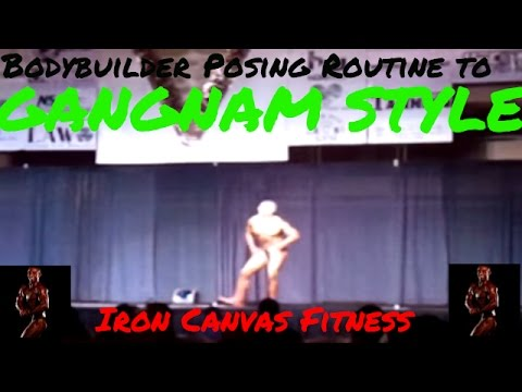 Amazing Gangnam Style Bodybuilding Posing Routine | Paradise Cup Hawaii 2012