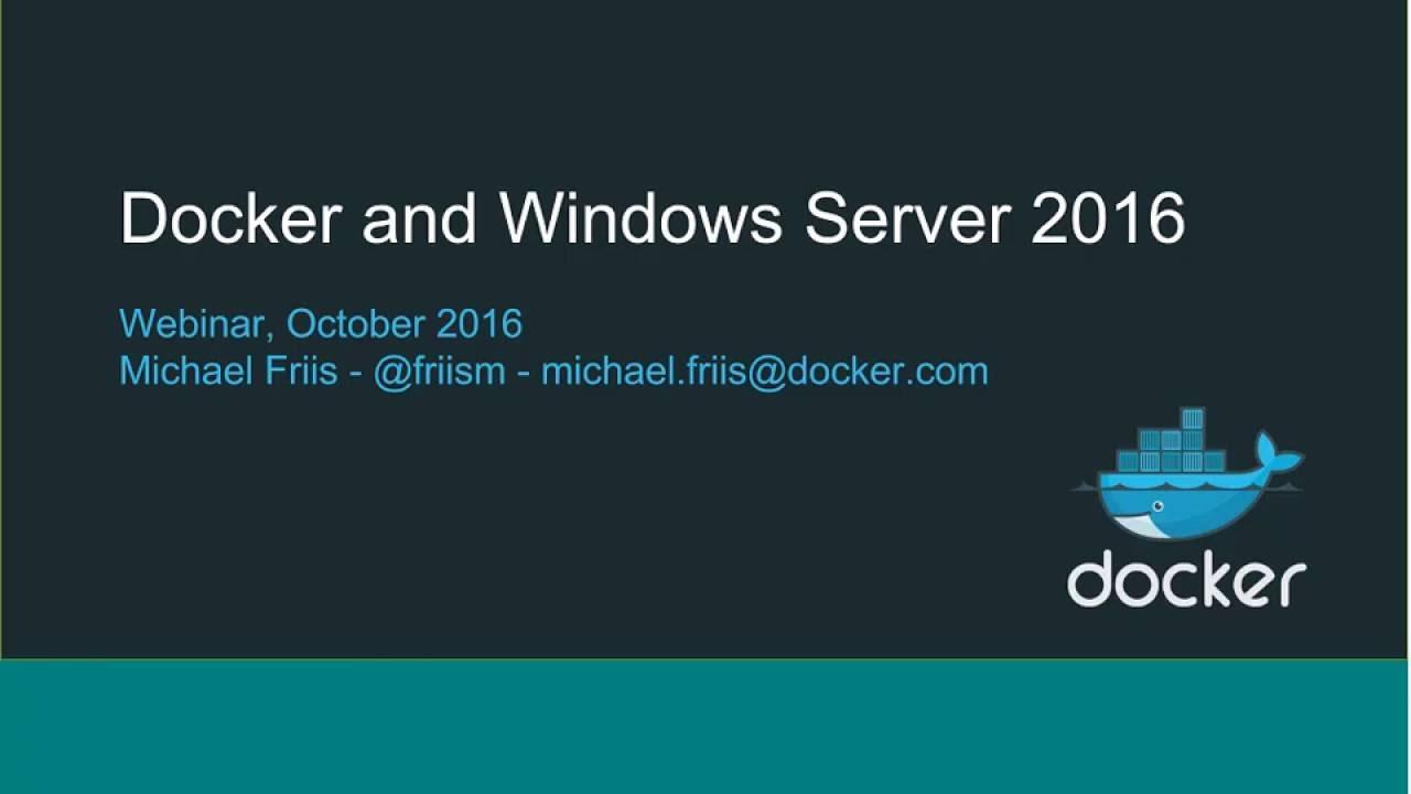 Docker for Windows Server 20