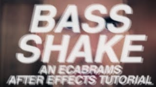 Basse Shake - Adobe After Effects tutorial