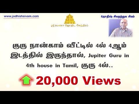 குரு நான்காம் வீட்டில் 4ல் 4ஆம் இடத்தில் இருந்தால், Jupiter Guru in 4th house in Tamil, குரு 4ல்..