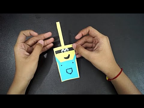 How To Make A Minion Bookmark || Paper Bookmark || Origami Paper Bookmark || Easy paper Bookmark