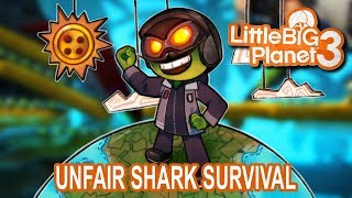 Unfair Shark Survival (Let's Play Little Big Planet 3 w/ GaLm and friends)