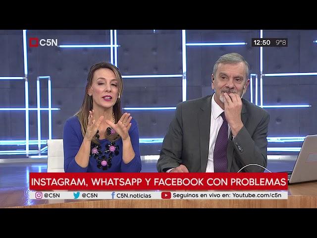 Fallas en Whatsapp, Instagram y Facebook