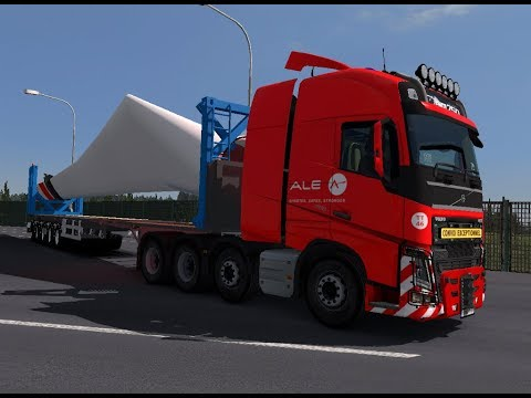 ETS 2 | Volvo FH16 8 x 2 Ale Heavy Long Trailer Wing Blade 80 Ton Project PLTB Sidrap