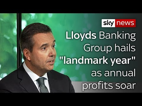 "Lloyds Banking Group hails ""landmark year"" as annual profits soar"