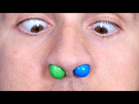 M&MS STUCK IN NOSE!