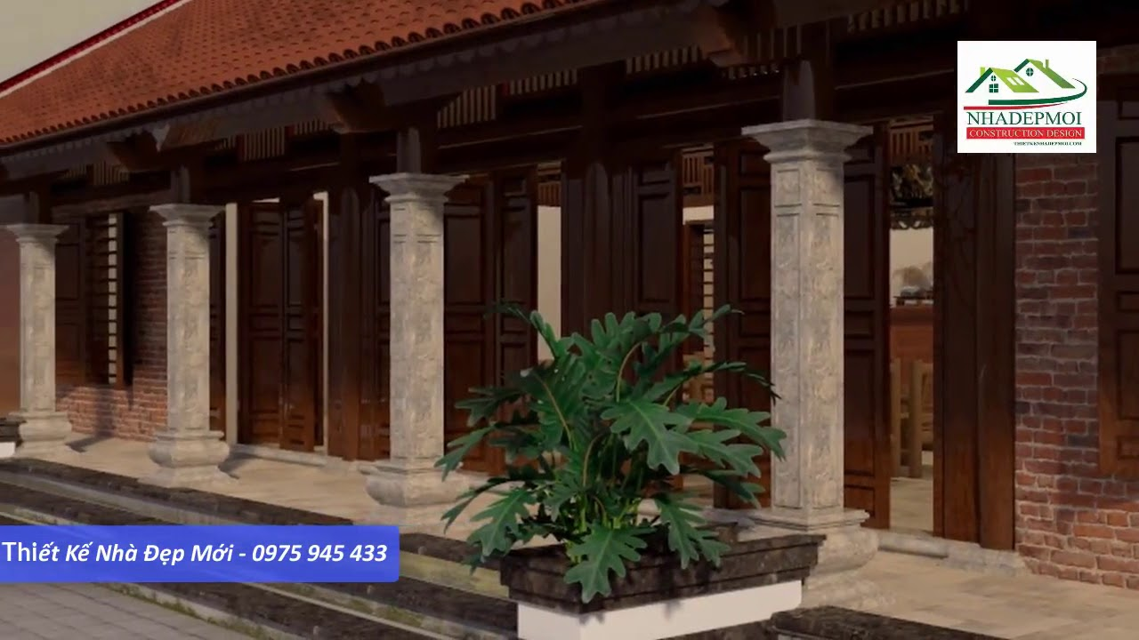 Bản vẽ kiến trúc nhà 5 gian mái ngói truyền thống kiểu Nhật