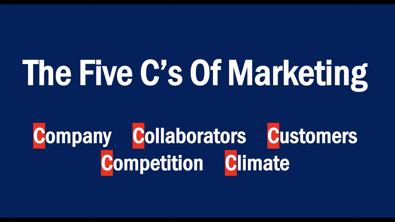 What are the five C's of marketing? Definition and examples