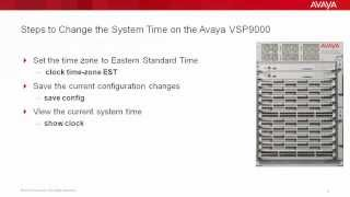 How to Change the System Time on the Avaya VSP9000